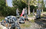 吴边社区:军民共建卫生大扫除 打好紫东环境攻坚战