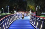 长江岸线大桥公园段江滩景观栈道亮了