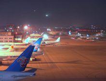 旧广州白云机场夜景