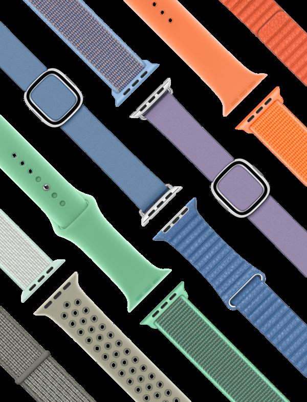 Apple Watch春季表带正式更新 多彩清新配色出街必备