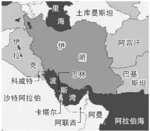 中东波斯湾沿岸石油
