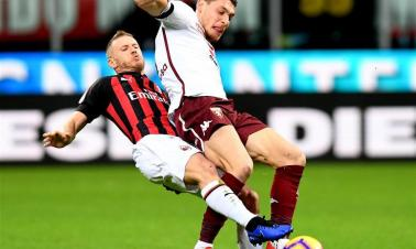 Serie A soccer match: AC Milan draw with Torino 0-0