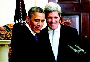 约翰·克里和奥巴马