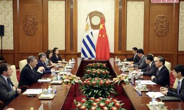Chinese state councilor meets Uruguayan foreign minister
