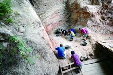 发掘重点集中在猿人洞第5层及第6层上部