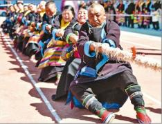西藏农牧民 赛场展风采