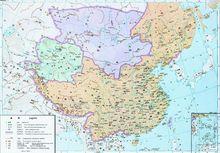 明朝和蒙古势力对峙示意图