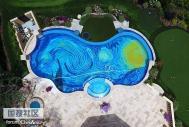 将自家泳池设计成《星空》版本
