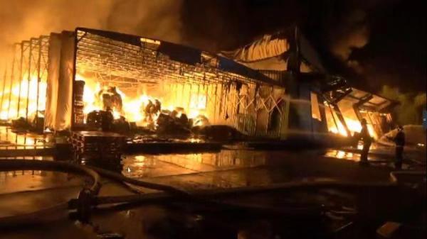 上海一农药仓库火灾:3名消防员高温中暑 未造成伤亡