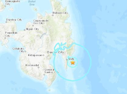 菲律宾棉兰老岛附近海域5.6级地震 震源深55.5千米