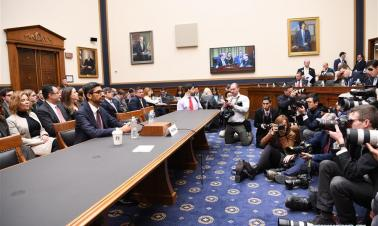 Google CEO attends hearing at U.S. House of Representatives