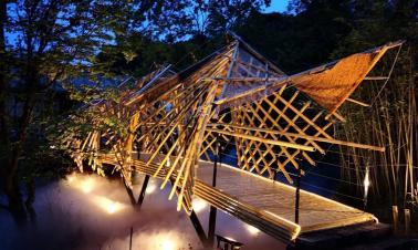 Ingenious bamboo 'gallery' wins top honors in contest