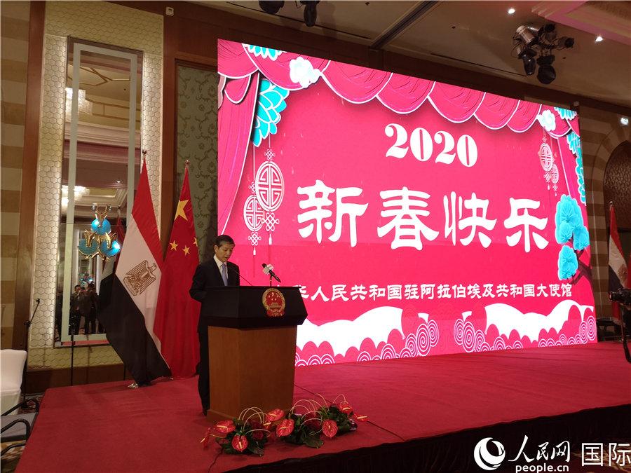 驻埃及使馆举行2020年华侨华人春节招待会