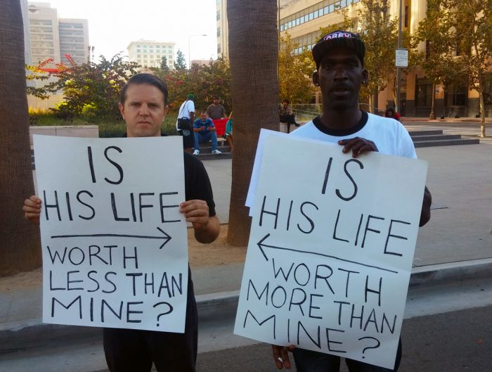 抗议种族歧视的活动。
