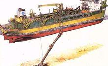 挖泥船工作示意图
