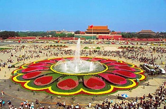 2003天安门广场国庆花坛