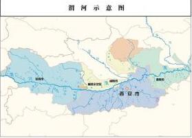 渭河示意图