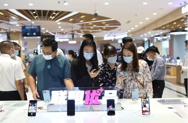 山东移动5G连锁化卖场开启iPhone 13新品首销