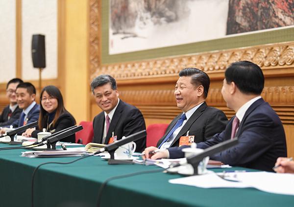 习近平在广东代表团参加审议