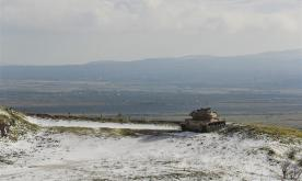 Snow covered Golan Heights