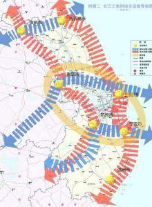 长江三角洲综合运输骨架图