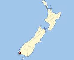 峡湾国家公园在新西兰的位置图