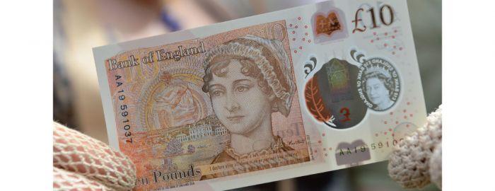 简·奥斯汀上英镑