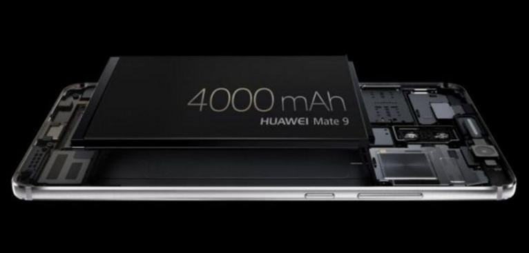 华为 Mate 9 采用了超大容量电池