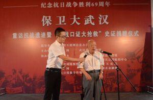 亲历抗战的87岁老人侯润涛现场讲述抗战故事