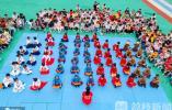 太萌啦!娃娃们排排坐读《三字经》 特殊仪式迎六一