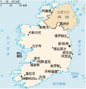 爱尔兰地图