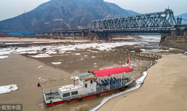 Yellow River ice flows