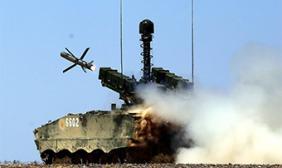 西北大漠反坦克导弹实弹射击训练