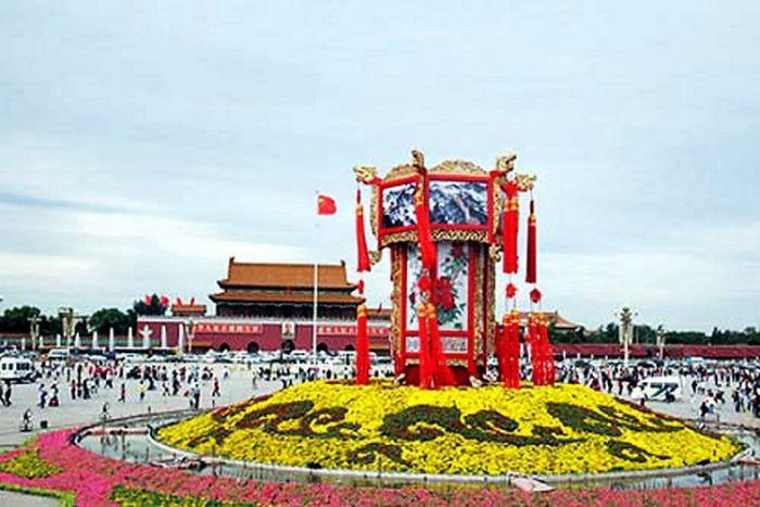 2008天安门广场国庆花坛
