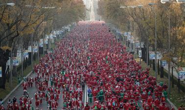 Santa Claus run in Spain